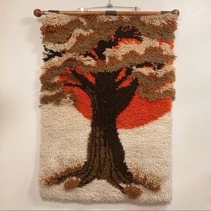 Mid Century Large Wall Hanging 3D Art Tapestry